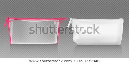 Artigos de higiene pessoal saco isolado branco fundo azul Foto stock © kitch