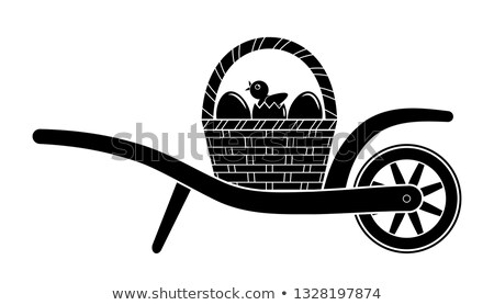 Chicken in wheel barrow Stock photo © ivonnewierink