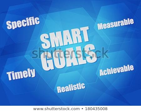 idea goal vision success in hexagons flat design stock photo © marinini