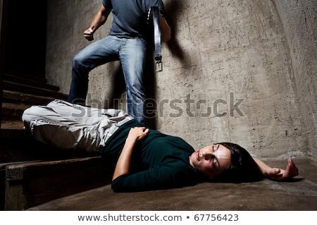 Dead woman lying in the basement Stock photo © rozbyshaka