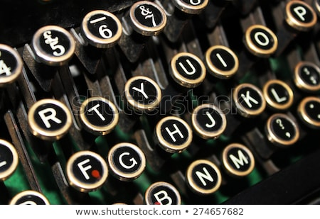 Stock photo: Secret On Old Typewriters Keys