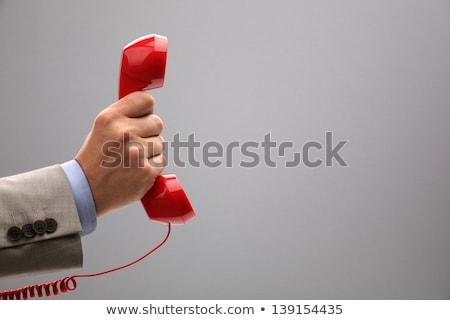 Сток-фото: Giving Phone Receiver