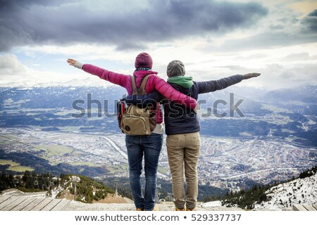 лесбиянок пару Постоянный руки любви свободу Сток-фото © bmonteny