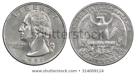 Dez americano 25 centavo moedas sessão Foto stock © ca2hill