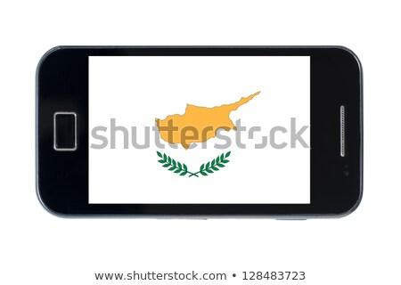 смартфон флаг Кипр телефон интернет телефон Сток-фото © vepar5