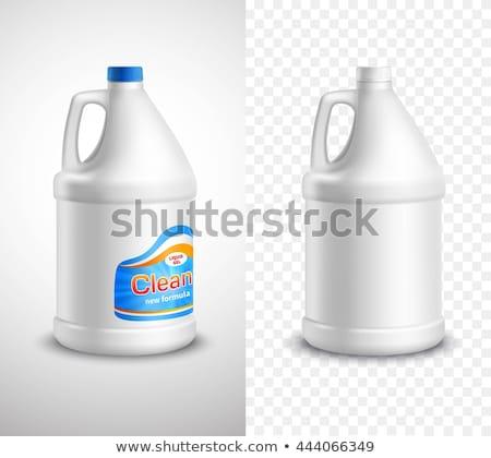 Plastik şişe kimyasal sıvı gri kimya Stok fotoğraf © stevanovicigor