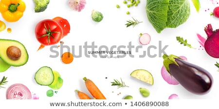 Beans with vegetables Stock photo © yelenayemchuk