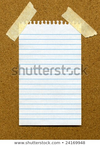 White lined blank paper stuck to a cork noticeboard. Stock photo © latent