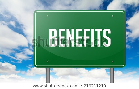 Benefits on Highway Signpost. Stock photo © tashatuvango