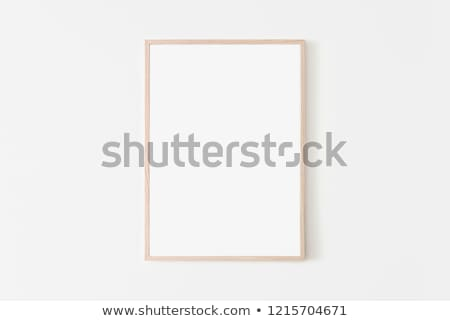 wooden frame on white background Stock photo © dekzer007