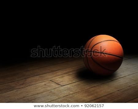 Schaduw basketbalveld rand sleutel outdoor Stockfoto © rhamm
