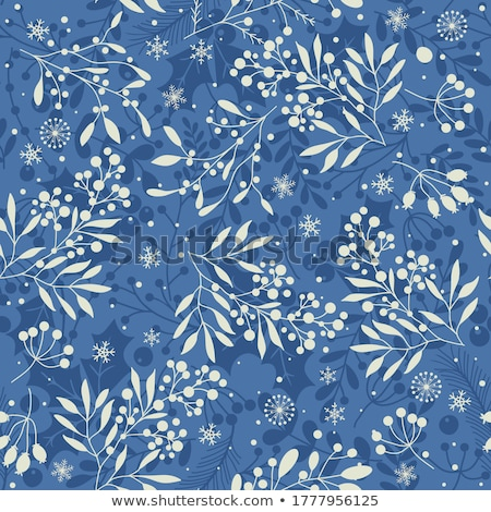 natal · sem · costura · azul · padrão · flocos · de · neve · vermelho - foto stock © Voysla