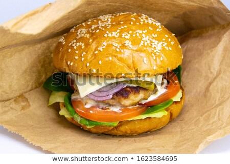 Burger · картофель · фри · продовольствие · жира · стейк - Сток-фото © elvinstar