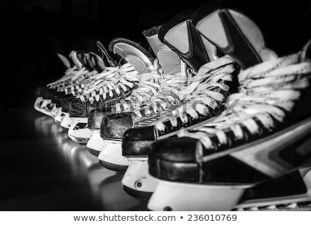Stok fotoğraf: Black Skates Close Up