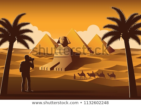 Photo of the Sphinx in Egypt in sunset Stock photo © mikdam