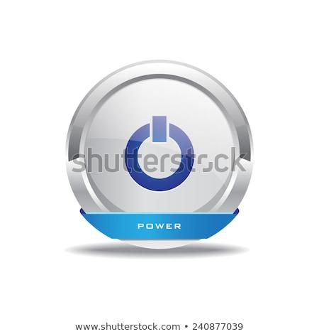 Erő körkörös vektor kék webes ikon gomb Stock fotó © rizwanali3d