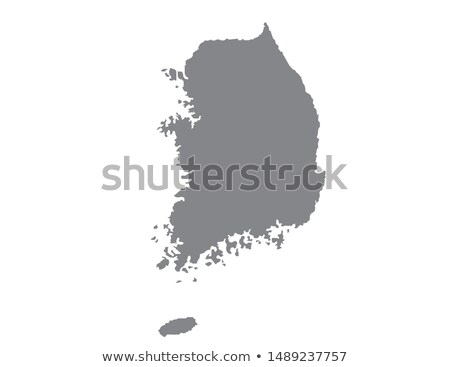 silhouette map of South Korea Stock photo © mayboro