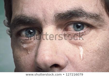man · triest · gezicht · handen · huilen · wanhoop - stockfoto © stevanovicigor