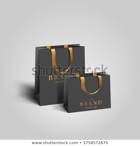 Zwarte branding vector ingesteld corporate Stockfoto © -Baks-