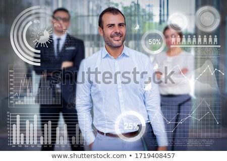 Optimista hombre jóvenes pulgar hasta Foto stock © hitdelight