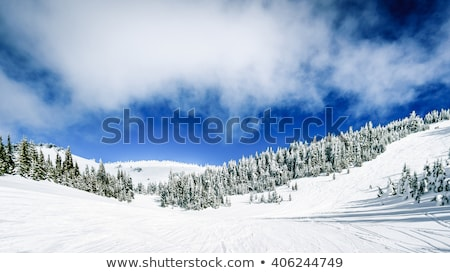 winter · alpine · berg · scène · blauwe · hemel · sneeuw - stockfoto © chrisga