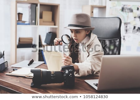 detective girl Stock photo © adrenalina