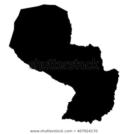 Pokaż Paragwaj podróży czarny wektora Zdjęcia stock © rbiedermann