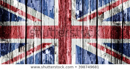 Great Britain Old Wood Flag Stock photo © Lightsource