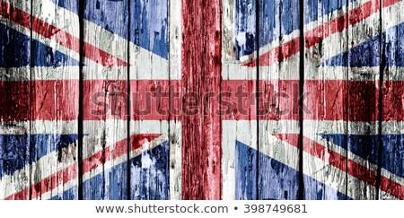 Gran bretaña madera vieja bandera pintado edad vintage Foto stock © Lightsource