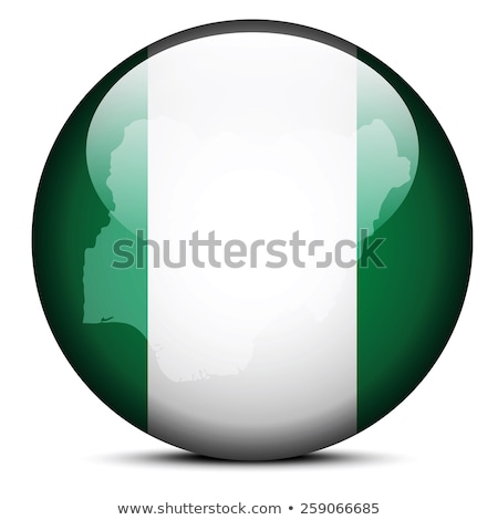 Map on flag button of Federal Republic  Nigeria Stock photo © Istanbul2009