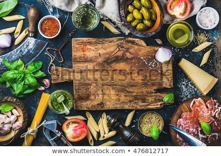 Voedsel ingrediënten keuken mes salade Stockfoto © fantazista