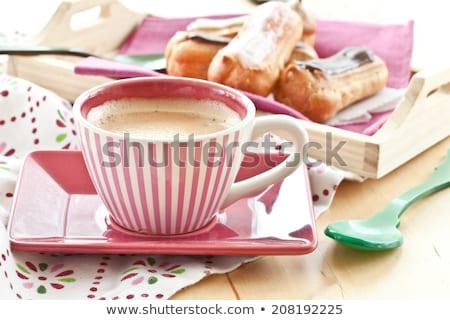 kávészünet · sütik · recept · notebook · kávéscsésze · felső - stock fotó © barbaraneveu