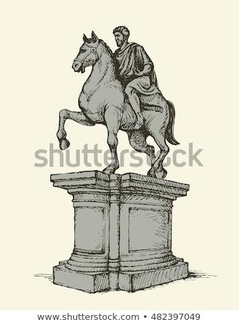 Statue Marco Aurelio in Rome, Italy Stock photo © vladacanon