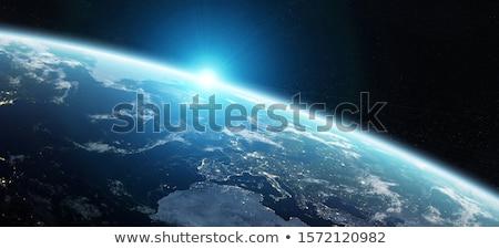Fogyatkozás Föld kilátás földgömb nap fény Stock fotó © sdecoret