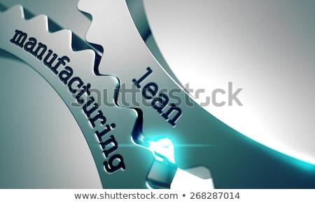 Fabrico metal engrenagens mecanismo tecnologia roda Foto stock © tashatuvango