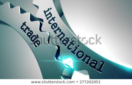 international trade on metal gears stock photo © tashatuvango