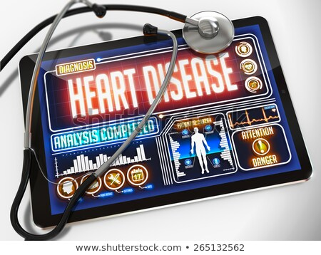 Stock photo: Heart Failure on the Display of Medical Tablet.
