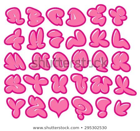 Grafite bolha goma rosa vetor fontes Foto stock © Melvin07