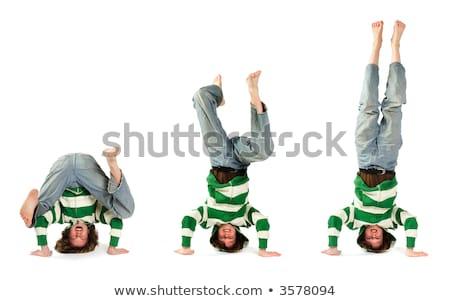 headstand take three stock photo © soupstock