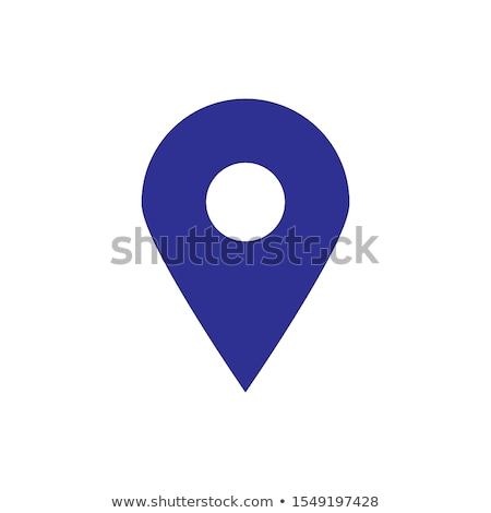 Zdjęcia stock: Flat Colored Location Icon Locating Your Business