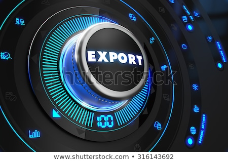 Stock photo: Import  Regulator on Black Control Console.