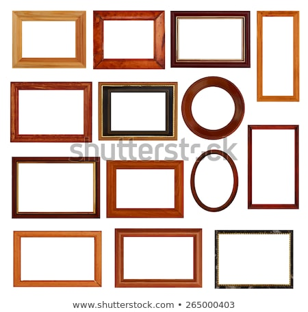 Ellipse brown painting frame Stock photo © magraphics