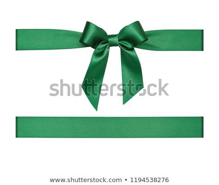 Groene lint stropdas boeg geïsoleerd witte Stockfoto © AptTone