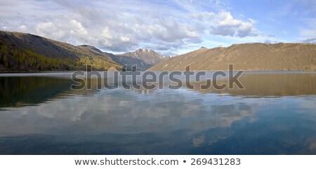 山 湖 パノラマ 森林 自然 ストックフォト © Rigucci