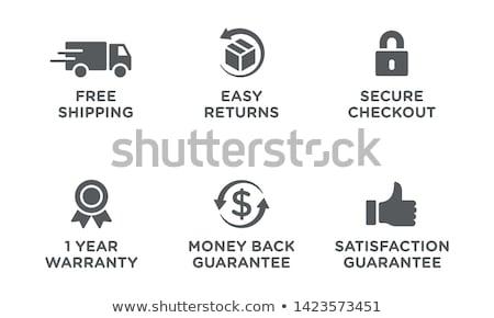 Argent Retour garantir bouton métal signe Photo stock © rizwanali3d