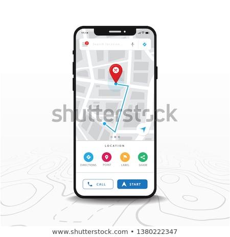 GPS · berendezés · autó · fehér · út · térkép - stock fotó © alphaspirit