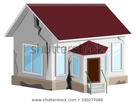 家 破壊された 亀裂 壁 ホーム プロパティ ストックフォト © orensila