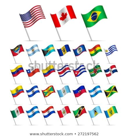 Канада Доминика флагами головоломки изолированный белый Сток-фото © Istanbul2009