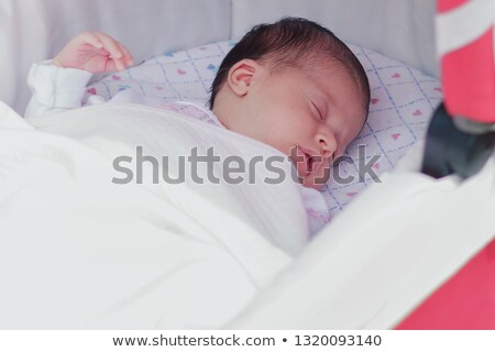 the baby sleeps in the open air stock photo © paha_l