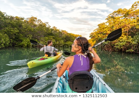 woman with the girl in the boat 2 stock photo © paha_l
